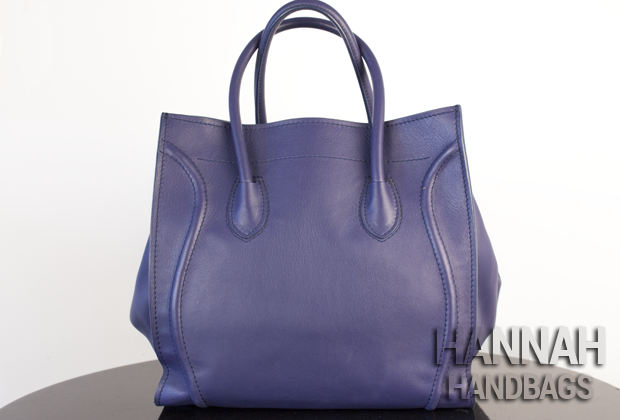 Celine Phantom Satchel Navy Blue-8