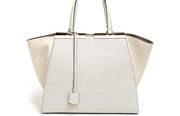 Genuine Fendi-MilkWhite-3Jours-Tote-Bag-Front