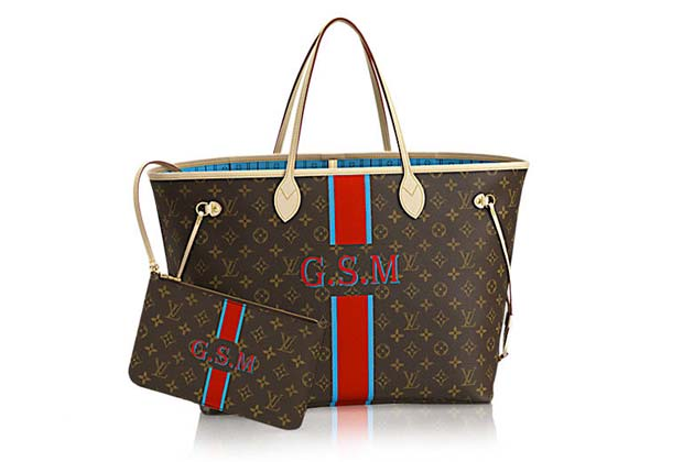 authentic LV neverfull handbag with red stripe 60a04c0514
