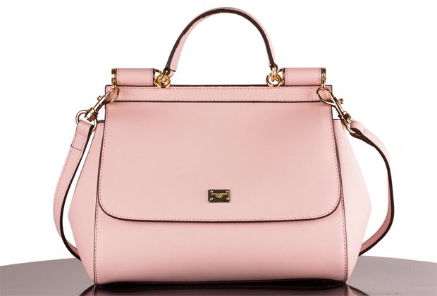 pink Dolce & Gabbana replica handbag on white backgorund