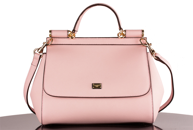 Pink Dolce Gabbana Replica Handbag On White Backgorund