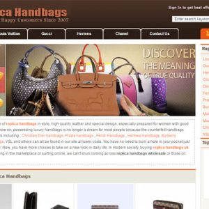 replica store homepage print screen