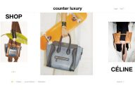 Counterluxury homepage print screen