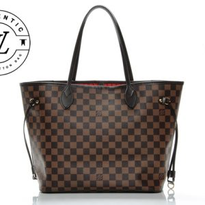 damier ebene canvas neverfull LV brown handbag