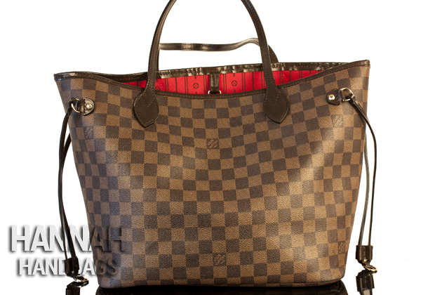 brown louis vuitton bag with red inside color