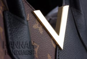 gold letter V on louis vuitton handbag