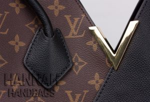 handle stitching on LV knockoff