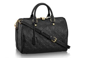 black speedy LV handbag