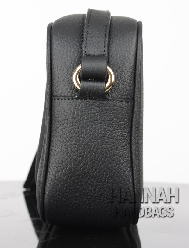 Fake Black Leather Bag Side The Gucci Disco