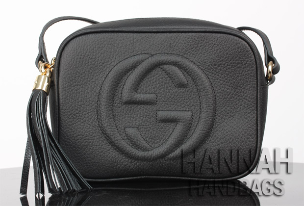 44c8eb6c1221 fake gucci soho disco black bag