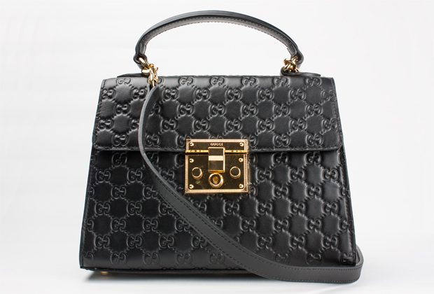 Black Gucci Padlock Replica Handbag