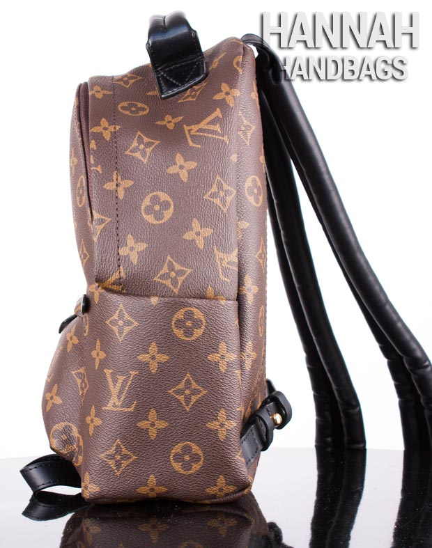 side pocket of fake LV backpack