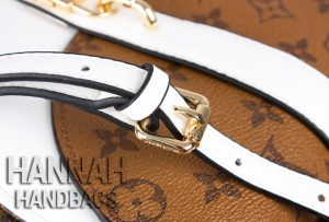 white leather handle