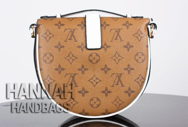 back inverted monogram leather of fake louis vuitton handbag