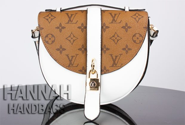 fake LV bag with white and monogram leather