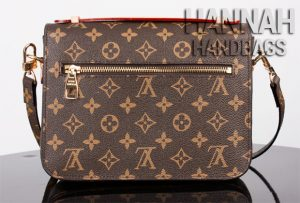 monogram leather and zipper on pochette replica bag