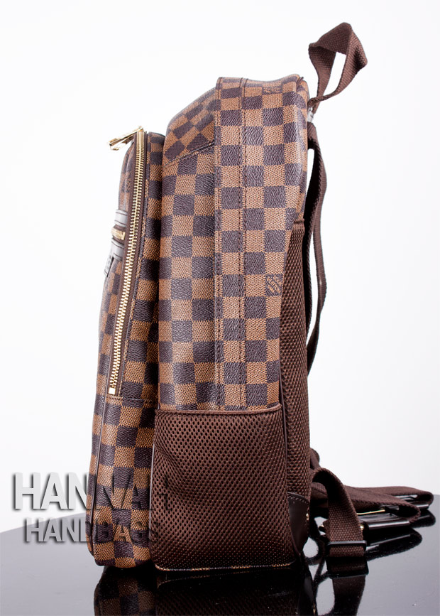 Louis Vuitton backpack replica from side