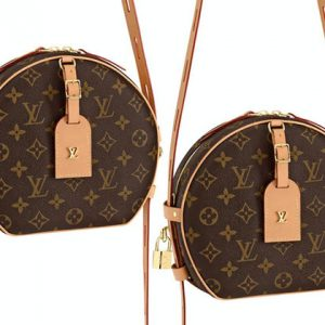 2 LV brown leather monogram bags